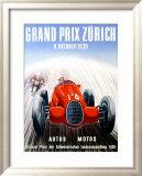 Grand Prix Zurich, 1939 Framed Giclee Print by Adolf Schnider