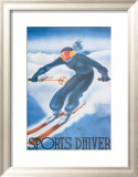 Sports d'Hiver Prints by Georges Arou