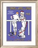 Grand Semaine des Armes de Combat Framed Giclee Print by T. J. Bridge