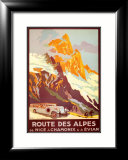 Route Des Alpes Print by Julien Lacaze
