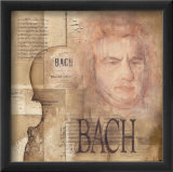 Tribute to Bach Affiches van Marie Louise Oudkerk
