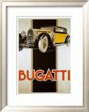 Bugatti Posters by René Vincent