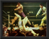Dempsey y Firpo, 1924 Arte por George Wesley Bellows