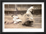 Joe DiMaggio Sliding into Third Posters