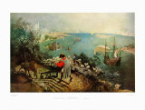 Landscape with the Fall of Ikarus Print by Pieter Bruegel the Elder