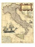Landkarte Italiens Kunst