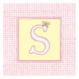 Girl Letter S Premium Giclee Print by  Vision Studio