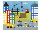 Storybook Construction Site Posters af Chariklia Zarris