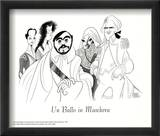 Un Ballo in Maschera, with Pavarotti Posters by Al Hirschfeld