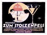 Weinhaus Zum Stolzenfels Restaurant Giclee Print by Reinhard Hoffmuller
