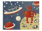 Space Explorer II Premium Giclee Print by Chariklia Zarris