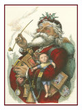 Merry Santa Giclee Print by  Vision Studio