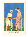 Au Polo Prints by Georges Barbier