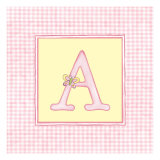 Girl Letter A Giclee Print by Vision Studio 