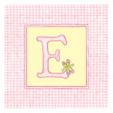 Girl Letter E Giclee Print by Vision Studio 