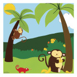 Jungle Jamboree II Poster von Erica J. Vess