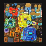 Pavilions and Bungalows for Natives and Foreigners Posters by Friedensreich Hundertwasser