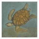 Sea Turtle II Print van Norman Wyatt Jr.