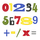 Kid's Room Numbers Posters by Megan Meagher