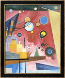 Schweres Rot, c.1924 Prints by Wassily Kandinsky