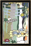 Water Lilies with Japanese Bridge Print by Roy Lichtenstein