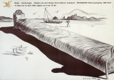 Very Long Bed Prints by Salvador Dalí