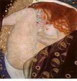 Danae Plakat av Gustav Klimt