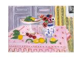 ピンクのテーブルクロス 1925年 高品質プリント : アンリ・マティス