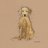 Doggy Tales VI Print by Clare Ormerod