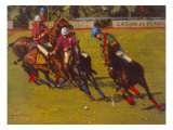 Polo At Deauville Giclee Print by Henry Koehler