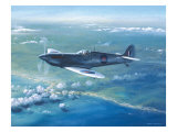 Spitfire Pr Mk IV Over Sicily Giclee Print by Roy Cross