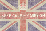 Keep Calm and Carry On (Union Jack) Posters van Ben James