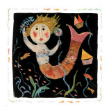 Mermaids Don&#39;t Use Combs Giclee Print by Barbara Olsen
