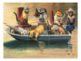 Gone Fishing Impresso gicle por Bryan Moon