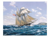 La nave corsara Lynx U.S Poster di Roy Cross
