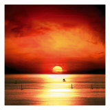 Sunset Sea Giclee Print by Jurek Nems