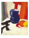 Blue And Orange Posters par Francis Cadell