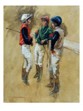 Three Jockeys Poster by Henry Koehler