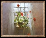 Red Geraniums Prints by Peter Poskas
