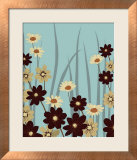 Blue Daisy Meadow Print by Kate Knight