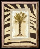 Zebra Palm I Print by Marie Frederique