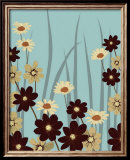 Blue Daisy Meadow Posters av Kate Knight