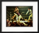 Dempsey et Firpo, 1924 Affiches par George Wesley Bellows