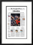 New York Times, Nov. 5, 2008: OBAMA, Racial Barrier Falls in Decisive Victory Framed Giclee Print
