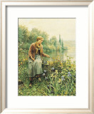 Girl Fishing Print by Daniel Ridgway Knight