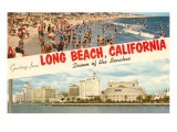 Greetings from Long Beach, California Art