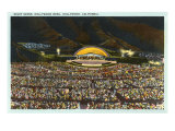 Night, Hollywood Bowl, Los Angeles, California Poster