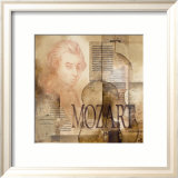 Tribute to Mozart Art by Marie Louise Oudkerk