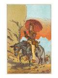 Man on Horseback Reading Posters