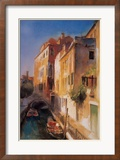 Bridge and Walkway, Venice Posters by Cecil Rice